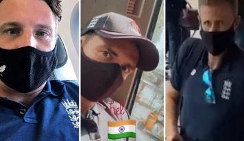 ٹیسٹ سیریز کیلئے انگلینڈ کی ٹیم ہندوستان پہنچ گئی