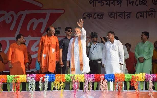 درگاپوجاروکنے والوں کوعوام معاف نہیں کر ے گی،مغربی بنگال کی انتخابی ریلی سے مودی کاخطاب