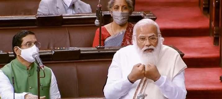راجیہ سبھا میں پی ایم مودی کے نئے تیور،کہا:ملک میں آندولن جیویوں کی نئی پود نمودار ہوئی ہے